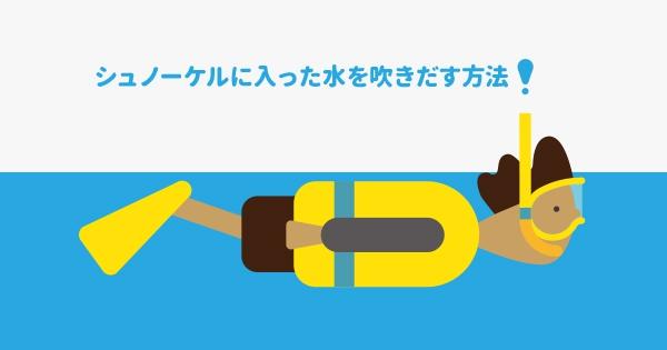 次の記事: シュノーケルに入った水を吹きだす方法 | WEAR